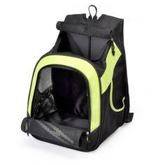 Sac à dos ou ventral pocket vert transport pour petit chien ou chat