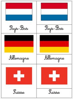 Cartes de nomenclatures : les drapeaux