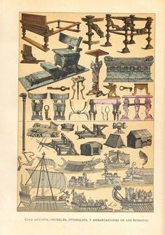 Litho of furniture  http://stores.ebay.com/SANDTIQUE-Rare-Prints