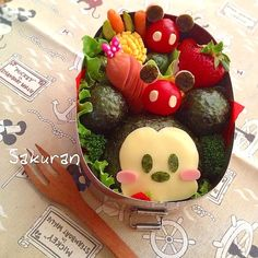Mickey bento. I'd feel bad eating it.