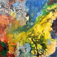 "Zohar Wallach, ""Within 2"" | Mixed Media on Canvas | $3,500 | Source: www.art-mine.com/... | Agora Gallery | Contemporary Fine Art | NYC, NY."