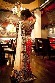 Bridal saree for indian bride Saris, Indian Bridal Wear, Indian Wear, Asian Bridal, Indian Style, Ao Dai, India Fashion, Asian Fashion, Bridal Outfits