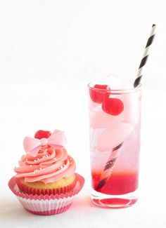 Shirley Temple Cocktail Cupcakes from @sprinklebakes