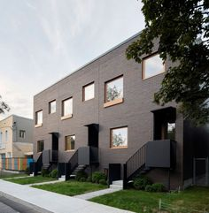 Naturehumaine creates simple facade for Montreal residences