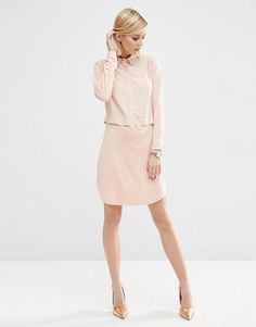 ASOS | ASOS Woven Mix Shirt Dress at ASOS