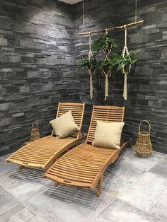 Pin by Franke Raumwert on Fliesen in Schieferoptik in 2019 Diy Sauna, Sauna House, Sauna Room, Saunas, Spa Interior, Interior Design, Piscina Spa, Spa Furniture, Cellar Design