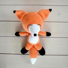 crochet fox toy amigurumi fox animal fox toy for kids plush stuffed animal handmade toy handmade fox baby toys eco toys babyshower gift fox