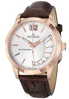 Price:$447.50 #watches Grovana 1722.1569, Grovana is a firm that has made a name for itself in the Swiss watch making industry through innovation and flexibility. Up to the 1970s it made mechanical watches that were always state of the art.