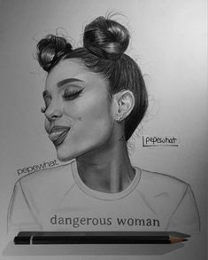 Find images and videos about art and ariana grande on We Heart It - the app to get lost in what you love. Ariana Grande Drawings, Ariana Grande Fans, Ariana Grande Wallpaper, Realistic Drawings, Cute Drawings, Pencil Drawings, Girl Drawing Sketches, Cartoon Sketches, Adriana Grande
