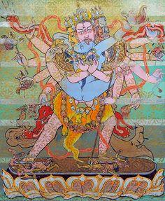 BLISSFUL UNION - Cakrasanvara, a 12 armed yiddam deity thangka by brian batista Tantra Art, Artistic Visions, Kali Goddess, Esoteric Art, Tibetan Art, Epic Art, Hindu Art, Buddhist Art, Dark Fantasy Art