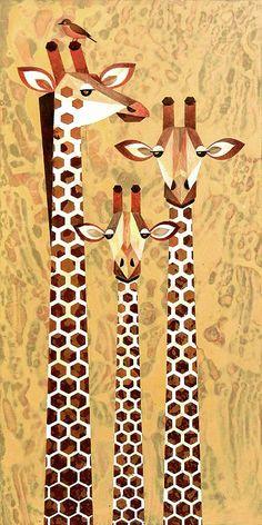 Block Painting, Moon Painting, Giraffe Family, African Quilts, Giraffe Art, Boy Art, Art Plastique, Zebras, Unique Art