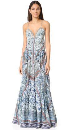 Camilla Women's Tiered Shoestring Dress, Antique Batik, Medium