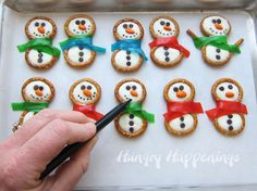 Hungry Happenings: Winter themed treats - Frosty Snowman Pretzels