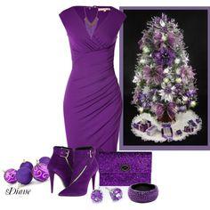 """Purple Christmas"" by diane-shelton on Polyvore"
