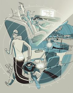 Illustration by Jussi Kaakinen for Mainostaja magazine, 2014 Magazine, Graphic Design, Illustration, Anime, Art, Art Background, Kunst, Magazines, Cartoon Movies