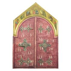 £6.00 - Altarpieces Advent Calendar. Celebrate each day in anticipation of Christmas with this beautiful Altarpieces advent calendar.Open a window daily and reveal a detail from the National Gallery Collection, including the Wilton Diptych, Botticelli's Mystic Nativity and Reni's The Adoration of the Shepherds. #Advent