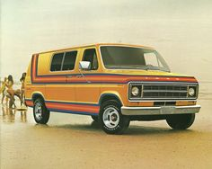 1977 Ford Econoline. It may have been a 1978 and it was navy blue?, we 5 had 16 x 30 windowsin it......Drove it!