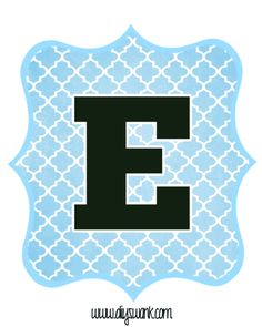 Blue_Black Letter_E