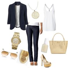 Gold and Navy!