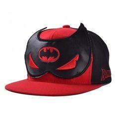Casquette Snapback Batman Mask Comics DC Rouge et Noir
