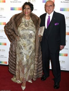 Aretha Franklin, left, and Clive Davis attend the 38th Annual Kennedy Center Honors at The Kennedy Center Hall of States - Franklin is famous for singing one of Carole King's most well loved songs, (You Make Me Feel Like) A Natural Woman