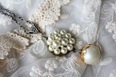 Upcycled Pearl Necklace Granny Chic Vintage Jewelry by belmonili      @belmonili