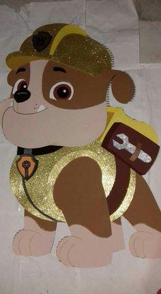 Ручная работа by  ostoys /корейский фетр /ткани Paw Patrol Masks, Los Paw Patrol, Paw Patrol Party, Paw Patrol Birthday, Paw Patrol Decorations, Cumple Paw Patrol, Birthday Bbq, Birthday Decorations, Diy Painting