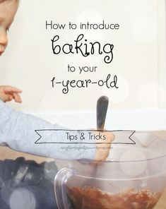 How to successfully introduce baking to a 1 year old. A few tips and tricks to make it easier for you and your little one. #baking #1yearold #familytime #toddleractivity #1yearoldactivity #toddlerplay #Montessori #montessoriplay #montessoriskills #momhacks