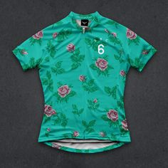 The Speedy Rose Canyon women's floral cycling jersey by Twin Six