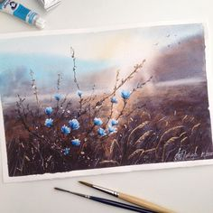"""1,058 Likes, 58 Comments - Tatiana, Moscow, Watercolor (@tatka_o) on Instagram: """"""""Light through the crown"""" My work from master-class by I. Ibrjaev! """"Свет сквозь крону"""" Рисовала…"""""""