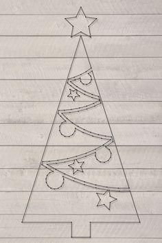 Kerstboom Groot | Spijkerafbeeldingen | spijkerpatroon