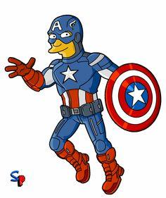 Superhroes y otros personajes Simpsonizados  Taringa  Ideias