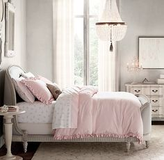 gently rounded belle bed paired with elegant furnishings. #rhbabyandchild