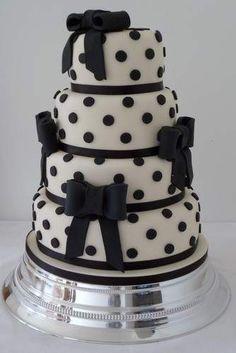 POLKA-DOT WEDDING CAKE - so fun for a retro vow renewal!