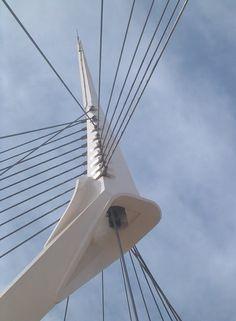 Santiago Calatrava bridge in Petach Tikva, Israel.