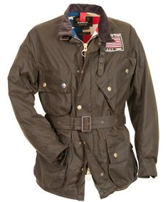 Hmmmmm I think I like this Barbour® Men's Baker Waxed Jacket - Steve McQueen Barbour Motorcycle Jacket, Barbour Mens, Barbour Jacket, Motorcycle Style, Motorcycle Outfit, Motorcycle Jackets, Wax Jackets, Men's Coats And Jackets, Barbour Steve Mcqueen