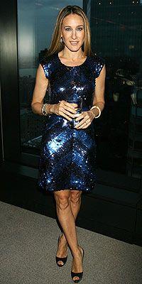 Where can I get Sarah Jessica Parker's blue sequin dress?