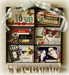 """retro love"" photo tray - Scrapbook.com"