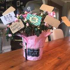 Easy to make gift card bouquet for the best teacher ever great easy to make mothers day gift card bouquet add a chalkboard negle Choice Image