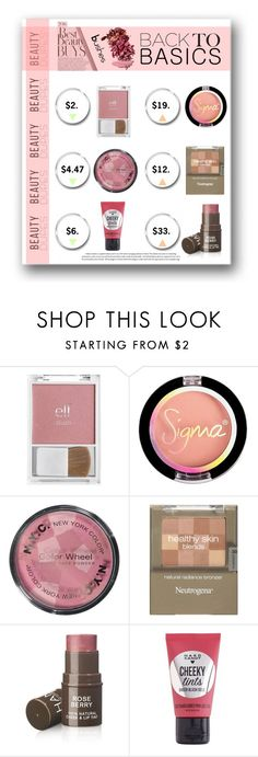 """blushes, back to basics"" by quicherz on Polyvore featuring beauty, Hard Candy and beautydupes"
