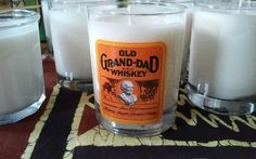 Old Grand-Dad Whiskey Soy Wax Candle by LimeGreenTaxiShop on Etsy #madeinbrooklyn #limegreentaxishop #soycandle #burnbabyburn #oldgranddadwhiskey #whiskey #mandle