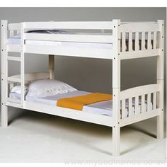 Verona Design Ltd America Bunk Whitewash Single Bunk Bed Bunk Bed Pine Bunk Beds, Wooden Bunk Beds, Bunk Beds Built In, Full Bunk Beds, Single Bunk Bed, Triple Bunk Beds, Bed Price, Bunk Bed Designs, Bed Reviews