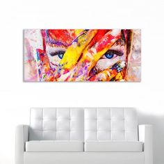 Painted Girl no 2 πανοραμικός πίνακας σε καμβά Couch, Painting, Furniture, Home Decor, Decoration Home, Room Decor, Painting Art, Sofas, Paintings
