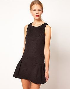 ASOS Fashion Finder | Oasis Embossed Dress With Drop Waist