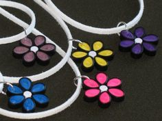 JUST A FLOWER, quilling, jewelry, necklace