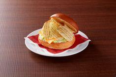 La hamburguesa de patatas fritas Calbee, y el caso es que no tiene mala pinta.