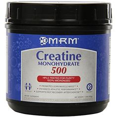 MRM Creatine Monohydrate 500, 1.1-Pound Plastic Jars (Pack of 6) -- Visit the image link more details. (This is an affiliate link) #VitaminsDietarySupplements