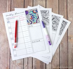 Free Printable Coloring Weekly Planner #ad #PilotYourLife