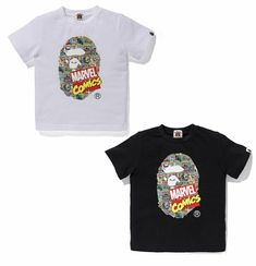 b066556c (eBay Sponsored) A BATHING APE BAPE KIDS x MARVEL COMIC APE HEAD TEE 2colors