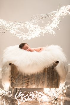 newborn winter session snow baby